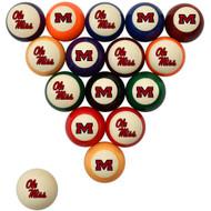 Ole Miss Rebels Billiard Ball Set - Standard Colors