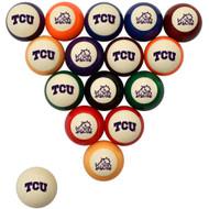 TCU Horned Frogs Billiard Ball Set - Standard Colors