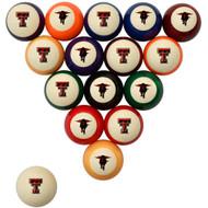 Texas Tech Red Raiders Billiard Ball Set - Standard Colors