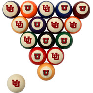 Utah Utes Billiard Ball Set - Standard Colors