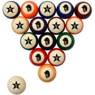 Vanderbilt Commodores Billiard Ball Set - Standard Colors