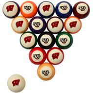 Wisconsin Badgers Billiard Ball Set - Standard Colors
