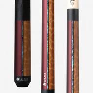 Lucasi  Duo Half Paint - Half Exotic Wood Series Pool Cue LZDU14