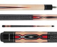 Action Pool Cue ACT146 Maple w/ Red & Grey