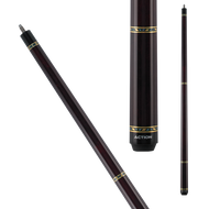 Action Pool Cues VAL24 Brown w/ Gold & Blue Rings