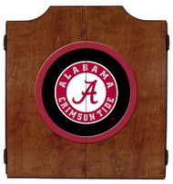 Alabama Crimson Tide Dart Board Cabinet