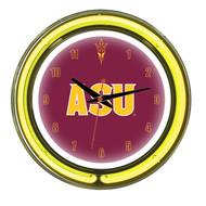 "Arizona State Sun Devils Neon Wall Clock - 14"""