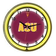 "Arizona State Sun Devils Neon Wall Clock - 18"""