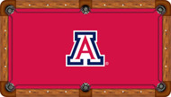 Arizona Wildcats Billiard Table Felt School Logo and Red Background Recreational