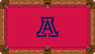 Arizona Wildcats Billiard Table Felt with A and Red Background - Professional