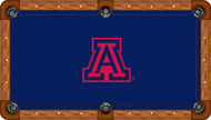 Arizona Wildcats Billiard Table Felt with A and Blue Background - Professional