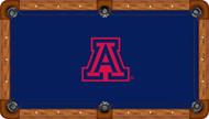 Arizona Wildcats Billiard Table Felt Red School Logo and Blue Background Recreational