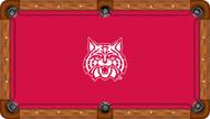 Arizona Wildcats Billiard Table Felt White Wildcat and Red Background Recreational