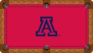 Arizona Wildcats Billiard Table Felt Blue School Logo and Red Background Recreational