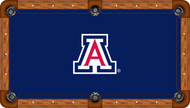 Arizona Wildcats Billiard Table Felt with White A and Blue Background - Professional 5