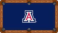 Arizona Wildcats Billiard Table Felt School Logo and Blue Background Recreational