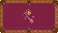 Arizona State Sun Devils Billiard Table Felt with Mascot - Recreational