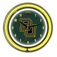 "Baylor Bears Neon Wall Clock - 18"""