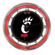 "Cincinnati Bearcats Neon Wall Clock --- 18"""