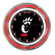 "Cincinnati Bearcats Neon Wall Clock --- 14"""