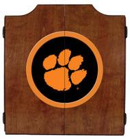 Clemson Tigers Dart Board Cabinet