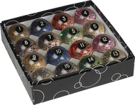 Designer Glitter / Confetti Pool Ball Set