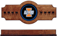 Illinois Fighting Ilini 2-piece Hanging Cue Rack