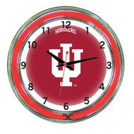 """Indiana Hoosiers Neon Wall Clock - 18"""""""
