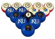 Kansas Jayhawks Billiard Ball Set