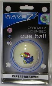 Kansas Jawhawks Cue Ball