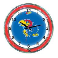 "Kansas Jawhawks Neon Wall Clock-18"""