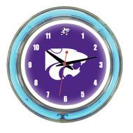 "Kansas State Wildcats Neon Wall Clock-14"""