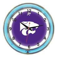 "Kansas State Wildcats Neon Wall Clock-18"""