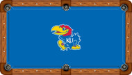 Kansas Jayhawks Billiard Table Felt - Professional 1