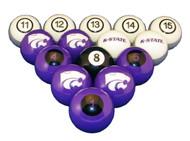 Kansas State Wildcats Billiard Ball Set