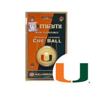 Miami Hurricanes Cue Ball