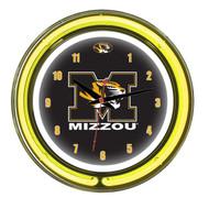 """Missouri Tigers Neon Wall Clock -14"""""""