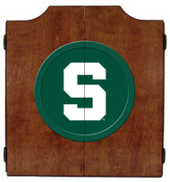 Michigan State Dart Board Cabinet