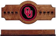 Oklahoma Sooners 2-piece Hanging Cue Rack