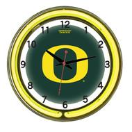 """Oregon Ducks Neon Wall Clock -18"""""""