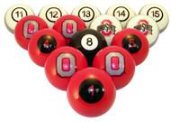 Ohio State Buckeyes Billiard Ball Set