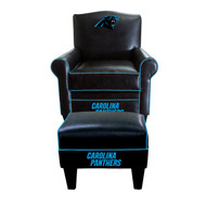 Panthers Black Game Time Chair and Ottoman