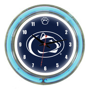"""Penn State Nittany Lions Neon Wall Clock -14"""""""