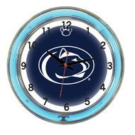 """Penn State Nittany Lions Neon Wall Clock -18"""""""