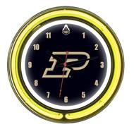 "Purdue Boilermakers Neon Wall Clock-14"""