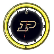 "Purdue Boilermakers Neon Wall Clock-18"""