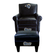 Rams Black Game Time Chair and Ottoman