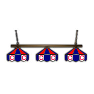 Cleveland Indians 3 Shade Glass Lamps