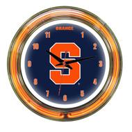 "Syracuse Orange Neon Wall Clock -14"""