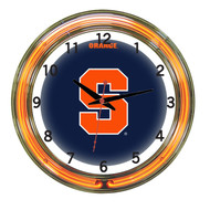 "Syracuse Orange Neon Wall Clock -18"""